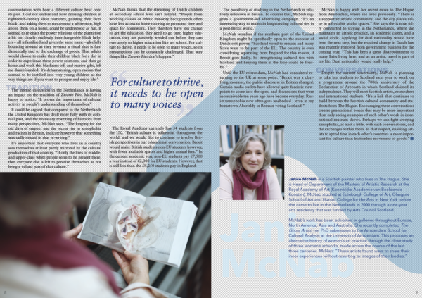 Interview with Janice McNab in North Sea Neighbours magazine