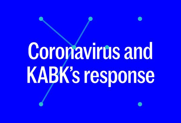 banner Coronavirus and KABK's response