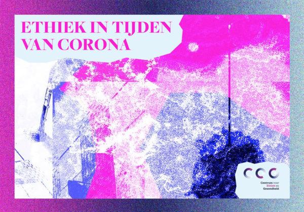 Cover essaybundel Ethiek in tijden van Corona