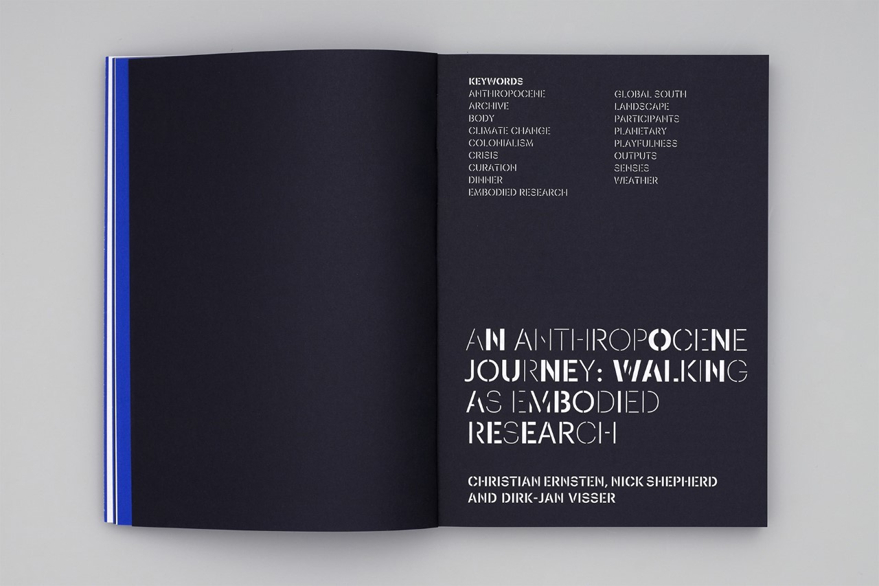Spread publication 'Walking: A Research Method in Art and Design