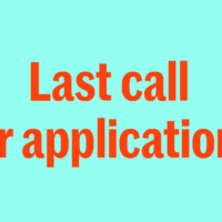 Last call for applications