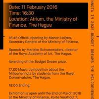 Budget Dreams - Miljoenennota 2016
