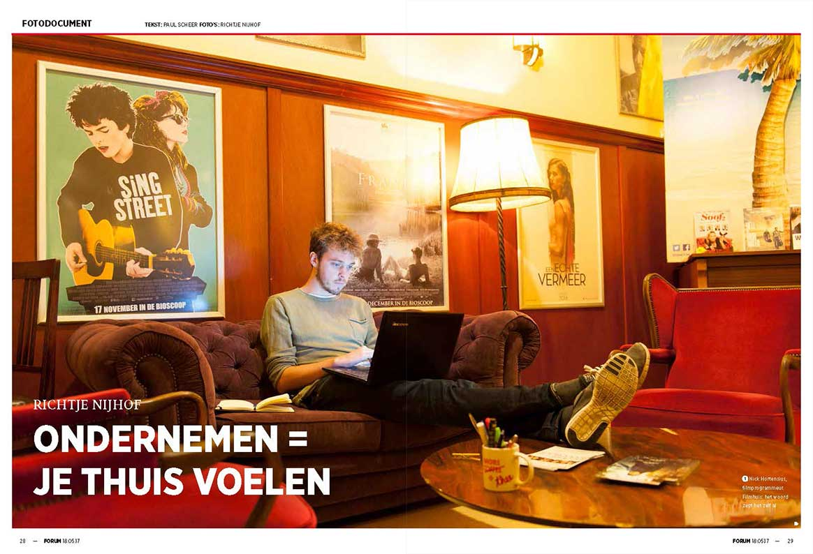 Photo series by KABK Photography student Richtje Nijhof in Forum magazine