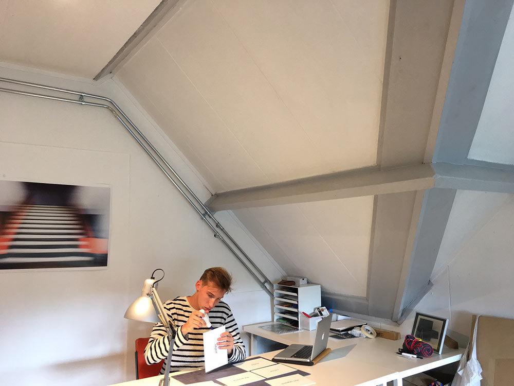 Werk van student Tijs Struijk voor de tentoonstelling HedenHaags in de Mesdag