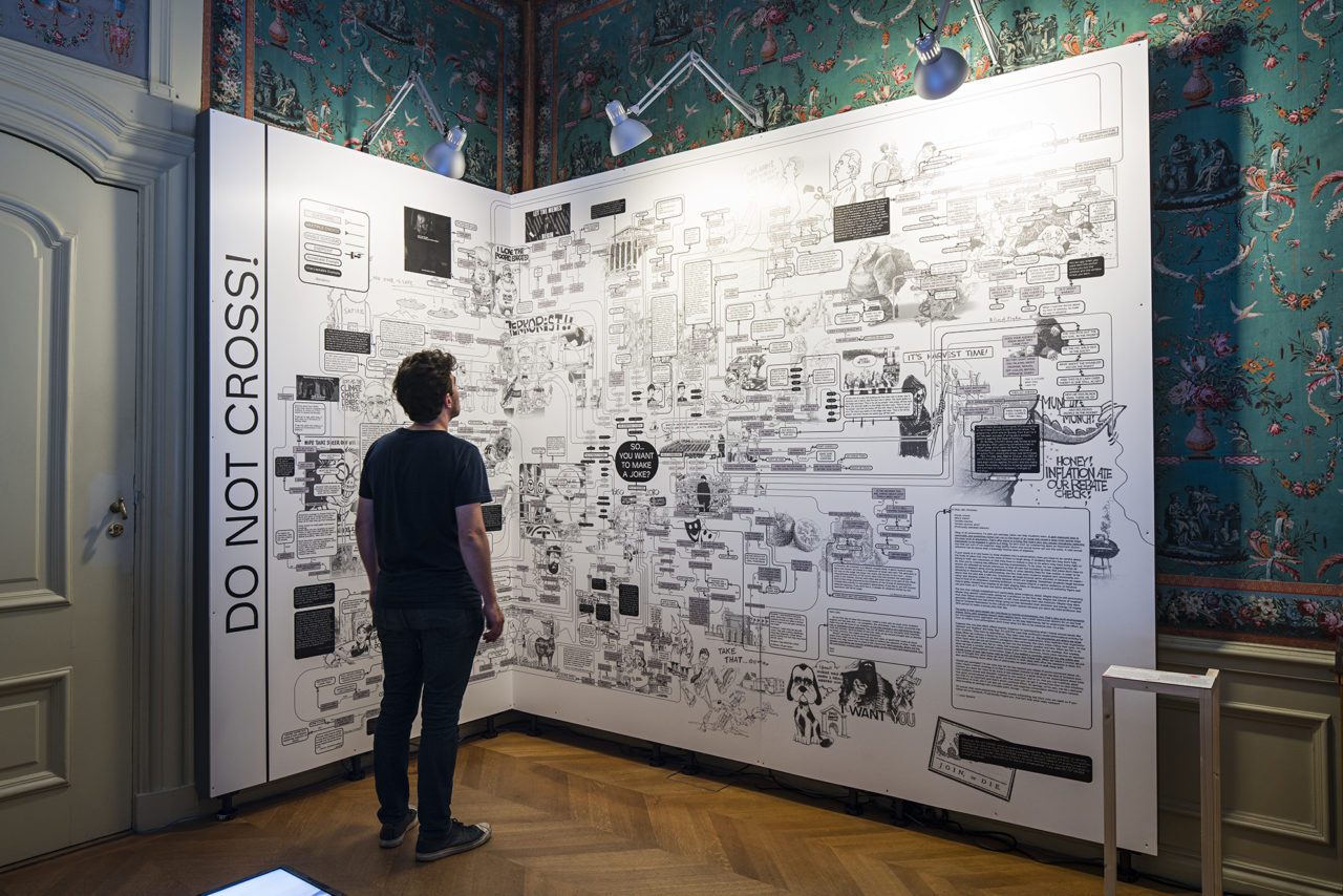 Installation in the exhibition Declaring Reason by KABK Graphic Design in Meermanno Museum (2017)
