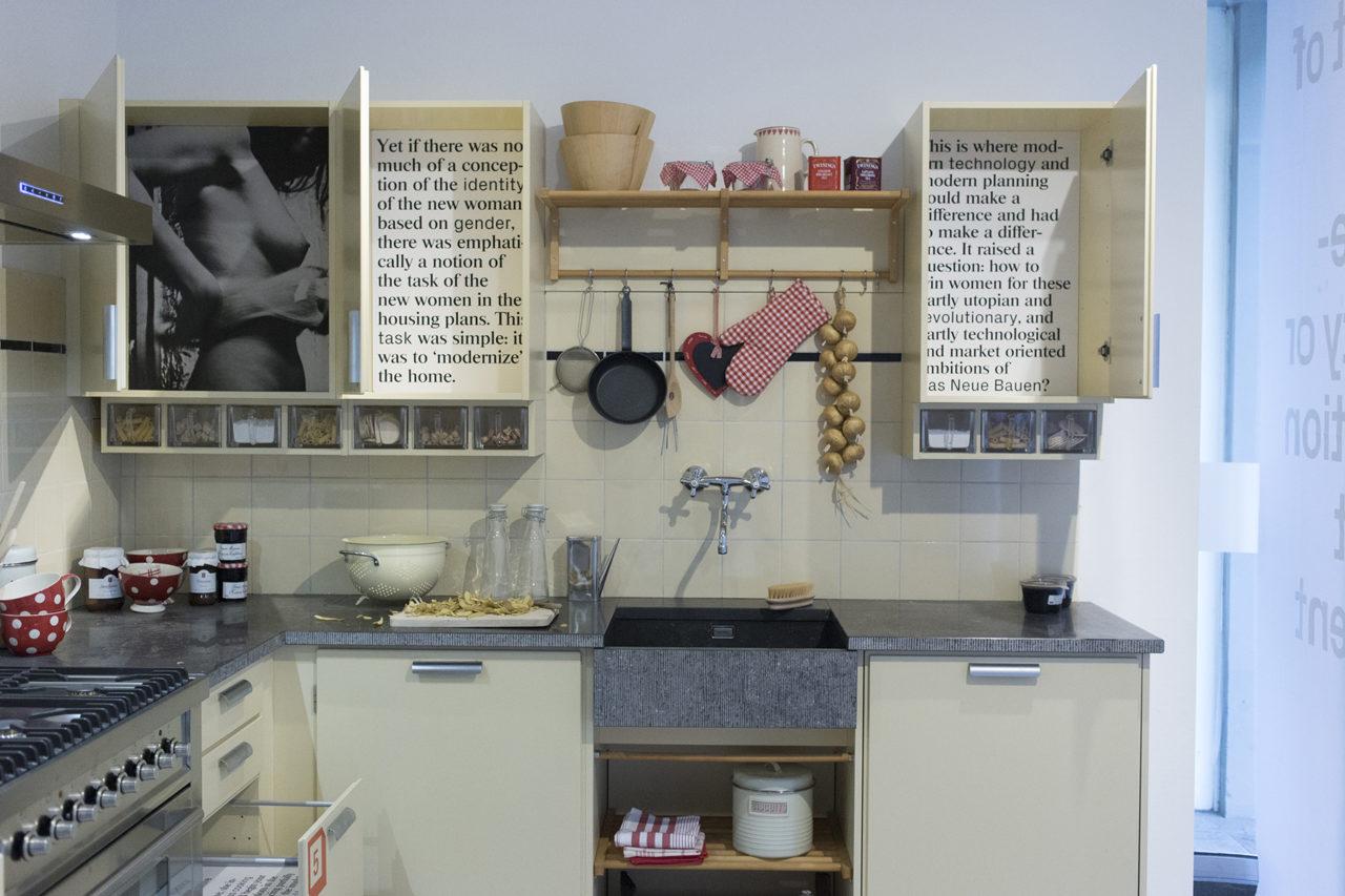 installation by KABK students at Bruynzeel Keukens shop