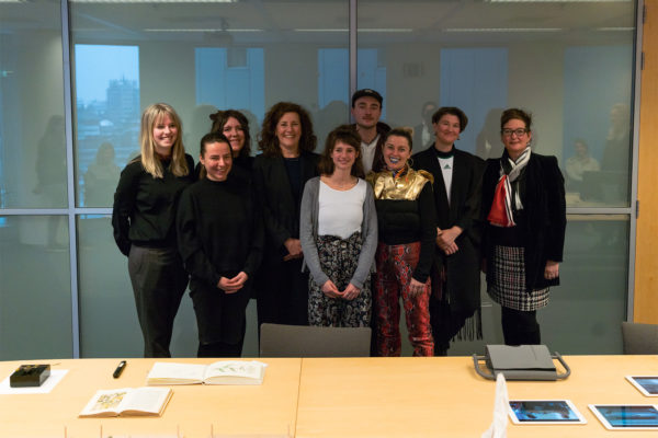 Ingrid van Engelschoven, Minister of Education, Culture and Science with KABK students