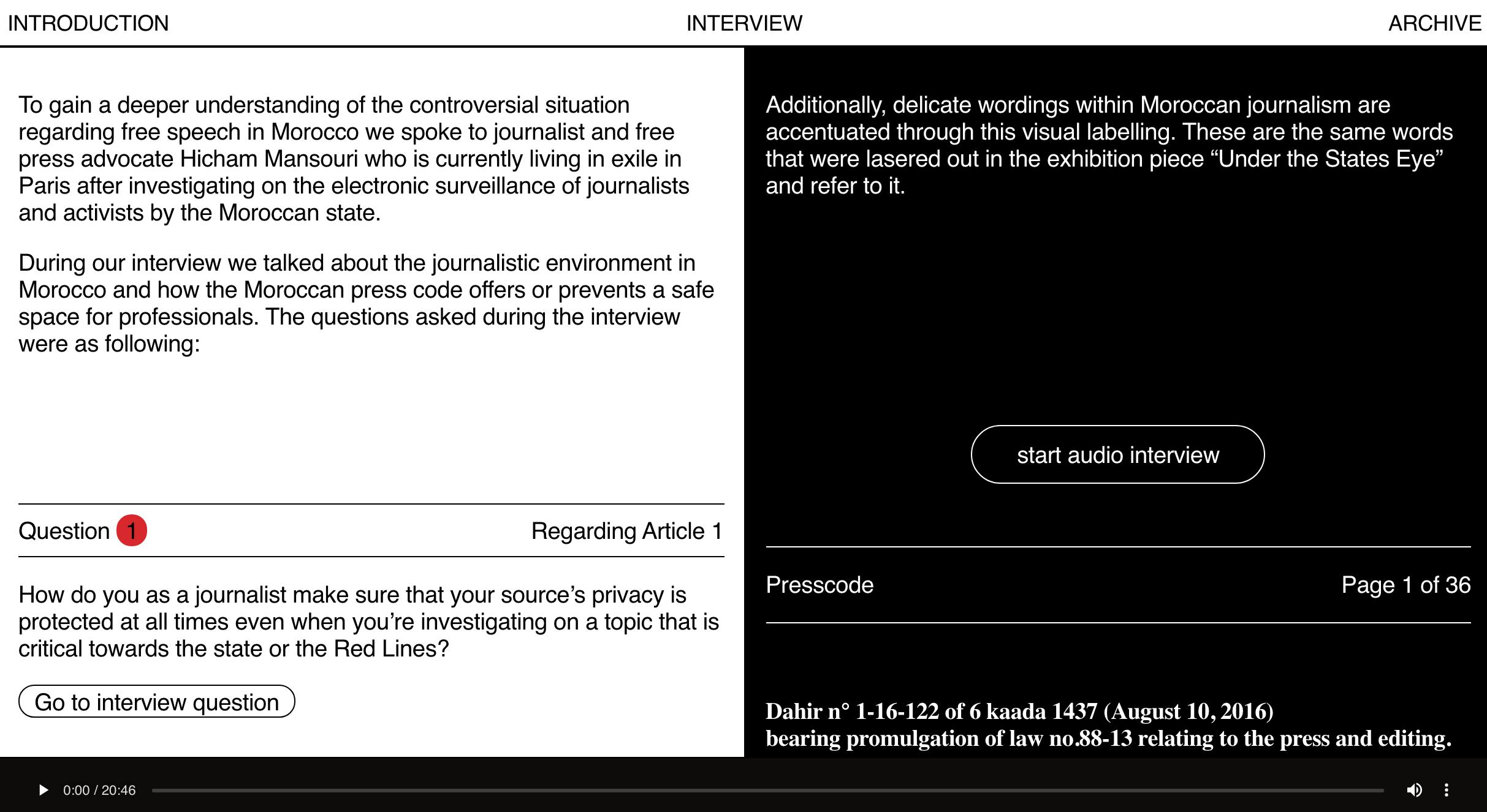screenshot http://morocco.rectangle.design/introduction/
