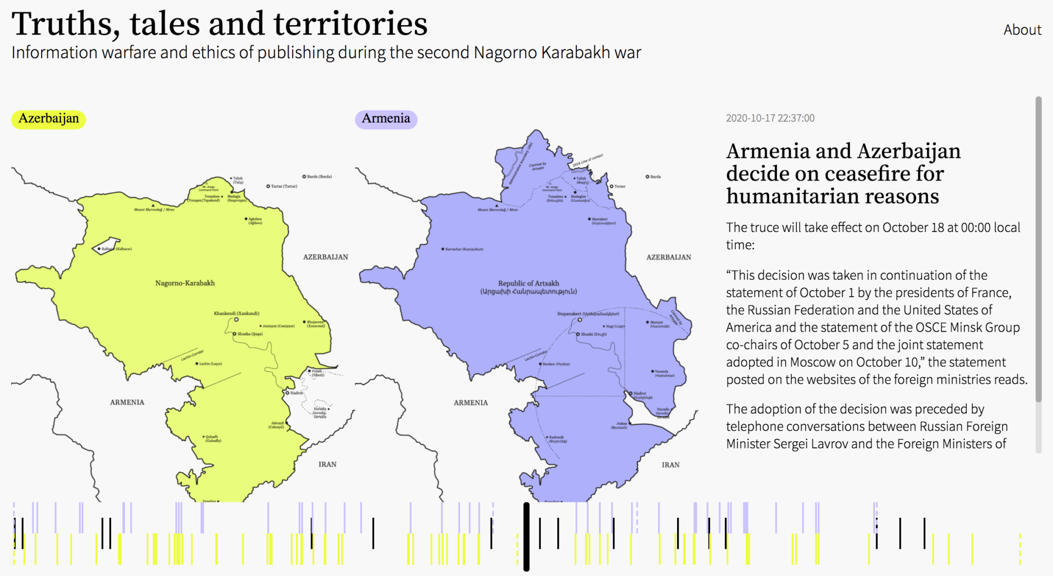 screenshot http://nagorno-karabakh.rectangle.design/