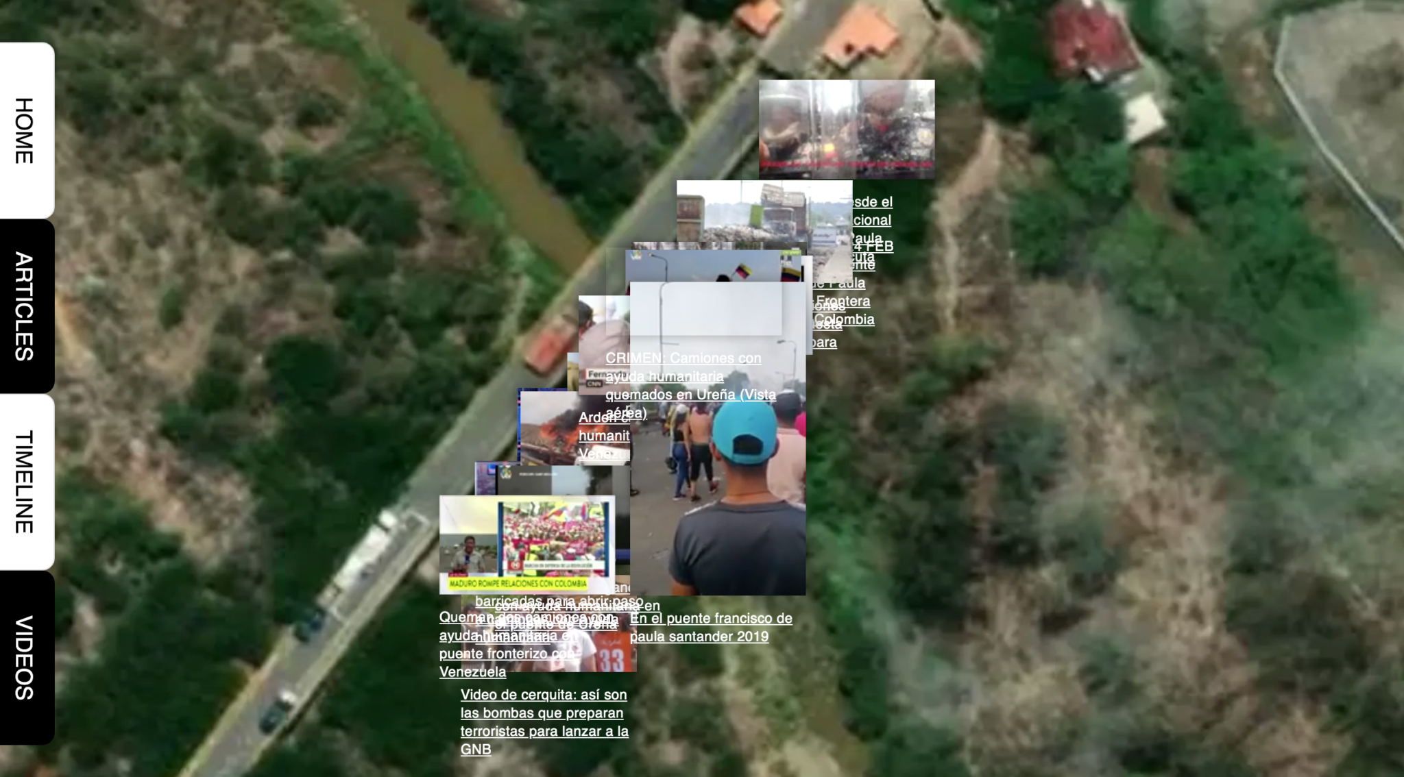 screenshot http://venezuela.rectangle.design/