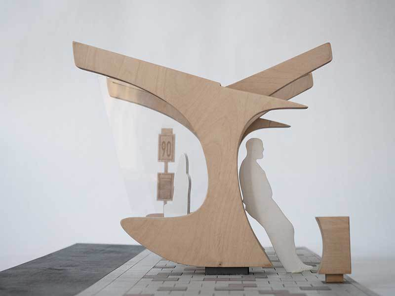 Seagull Bus Stop design by Ilya Doreanu & Ebru Güner