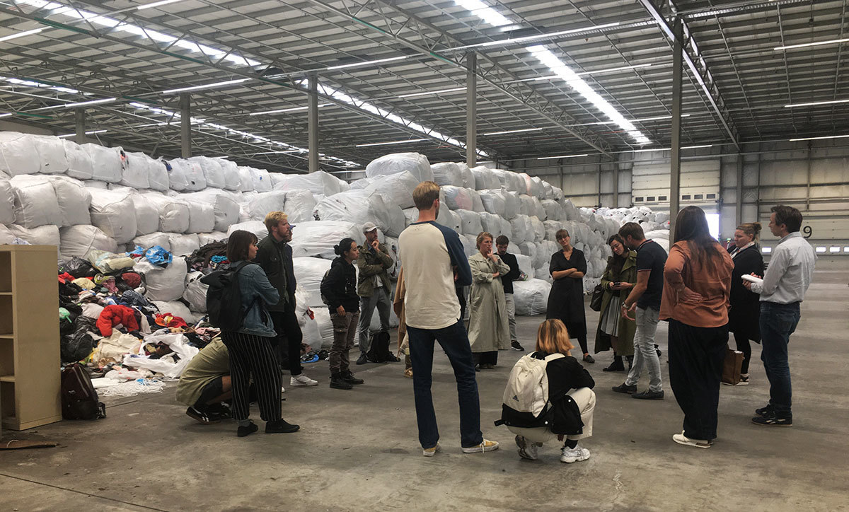 Fieldtrip - Master Industrial Design Textile collecting point Amsterdam