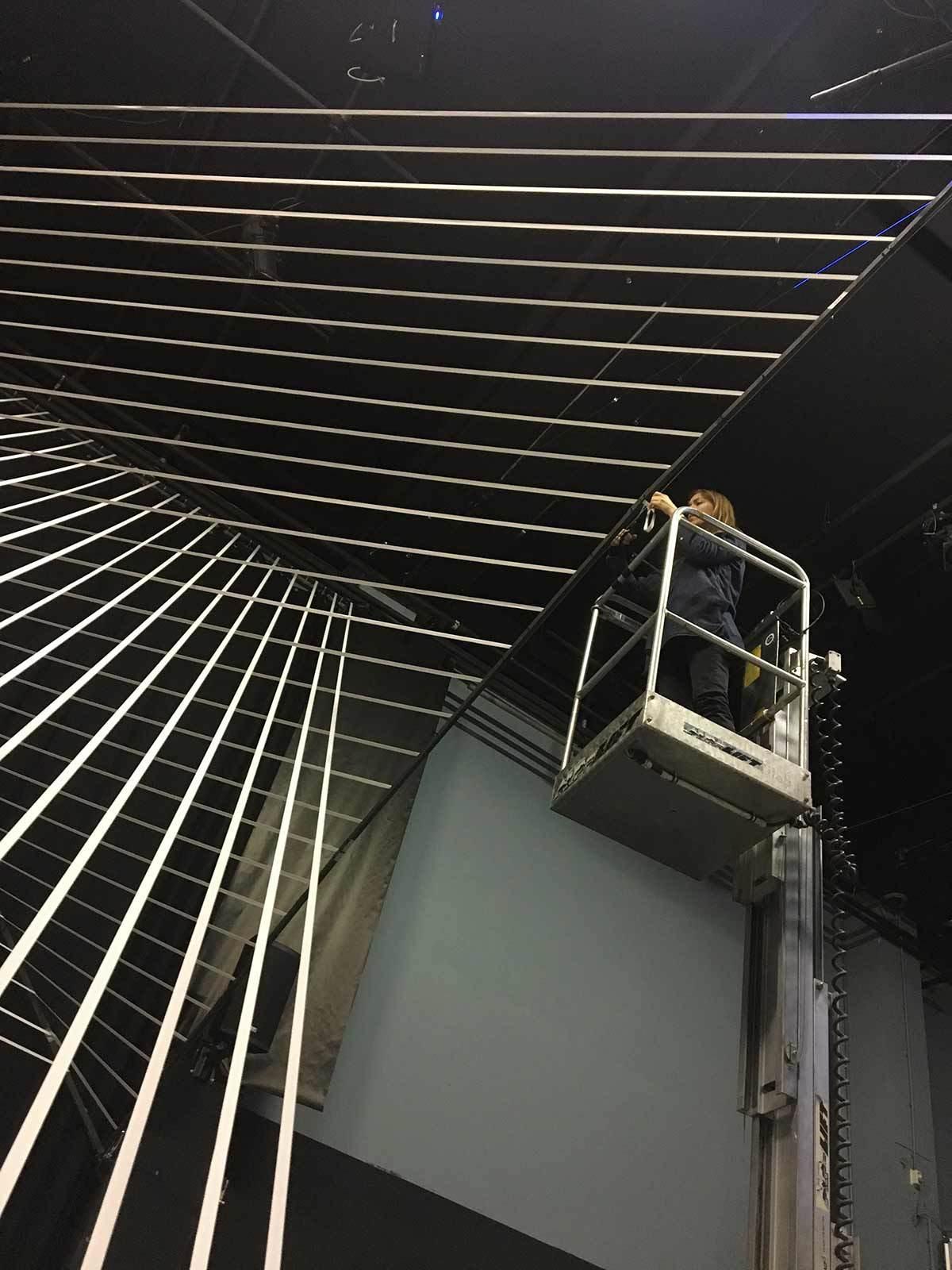 Lyndsey Housden - Residency at V2_ installing Axis