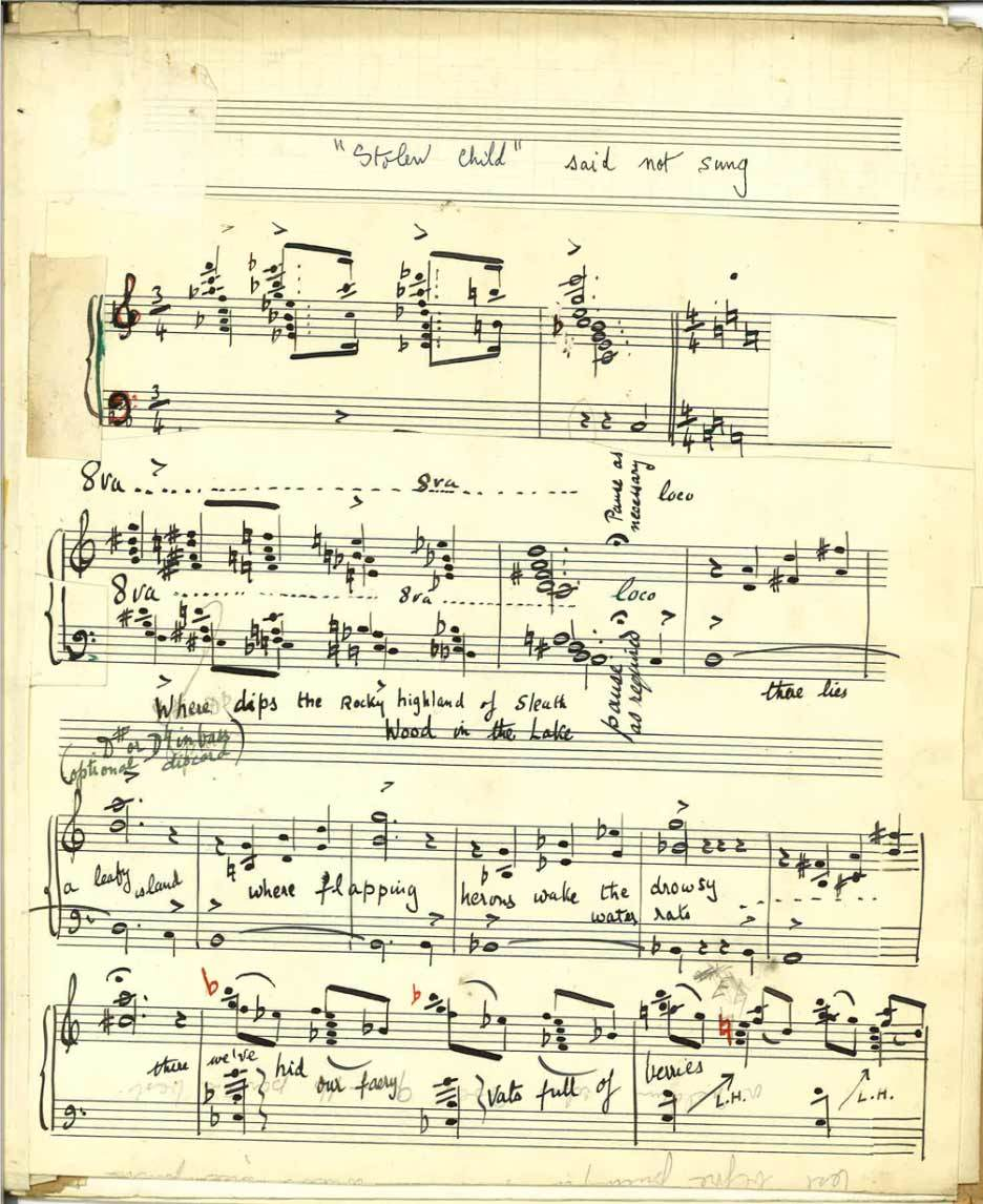 The opening autograph page of The Stolen Child, a melodrama by composer Margaret Amphlett