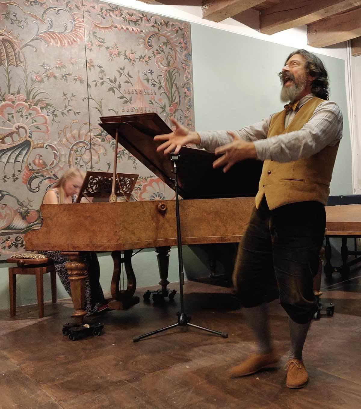 Jed Wentz reciting Edgar Allen Poe's The Bells