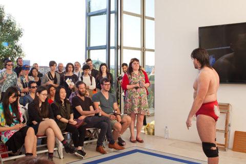 Natasha Taylor's performance during KABK's RESET presentation at Salone del Mobile 2016