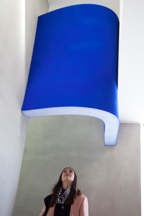 Installation with foam element by alumna Master Interior Architecture Anne Kranenborg