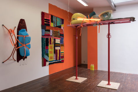 Gitte Svendsen's installation in KABK presentation of My Practice, My Politics at Stroom Den Haag