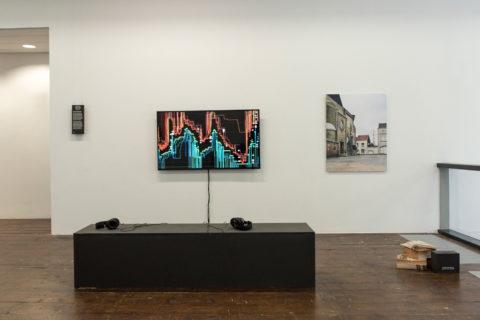 Eline Benjaminsen's installation in the KABK presentation of My Practice, My Politics at Stroom Den Haag