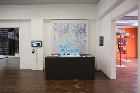 Klodiana Millona's installation in KABK presentation of My Practice, My Politics at Stroom Den Haag