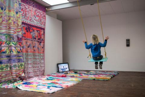 Yamuna Forzani's installation in KABK presentation of My Practice, My Politics at Stroom Den Haag