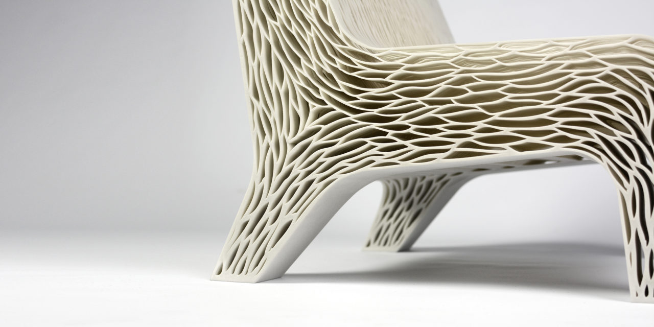 biomimicry 3d printed soft seat by alumna Lilian van Daal
